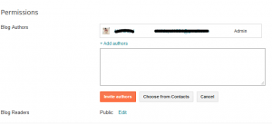 Blogger step 3