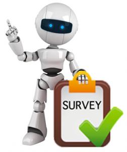 Survey chat bot