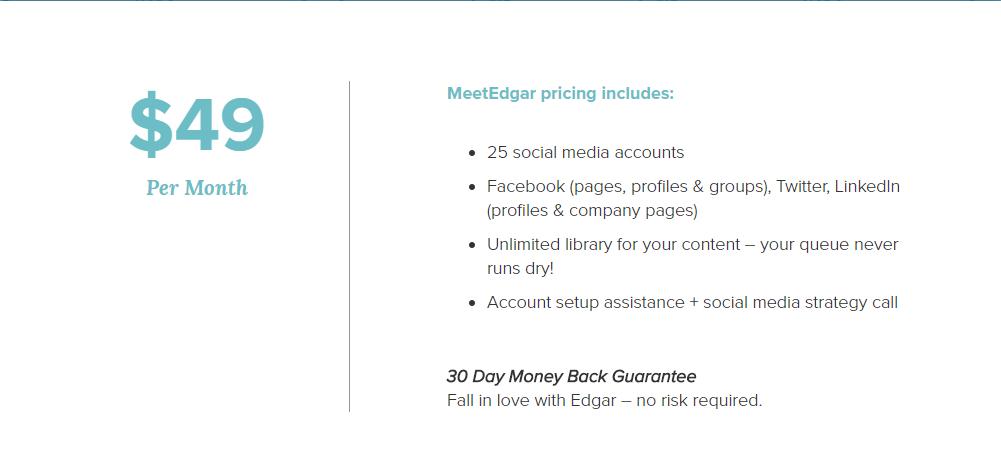 Meetedgar pricing