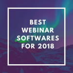 Best Webinar Softwares for 2018