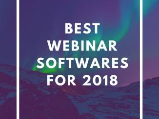 Best Webinar Softwares for 2018