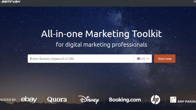 SEMRush keywords research tools