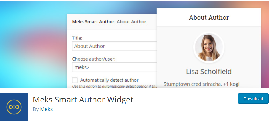 Merks Smart author widget