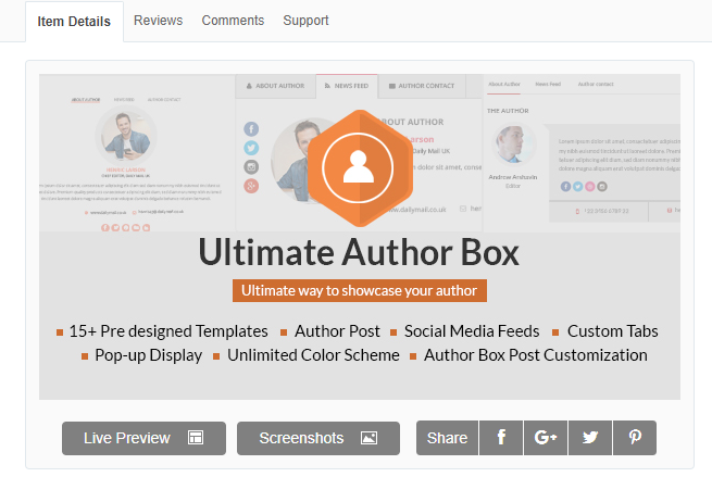 utimate author box