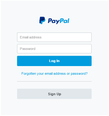 Login in to your PayPal Account