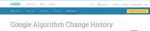 MOZ change historty tool