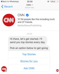 CNN news facebook chat messenger
