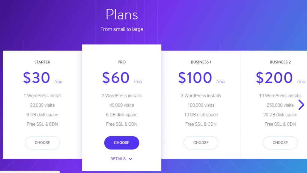 Kinsta pricing