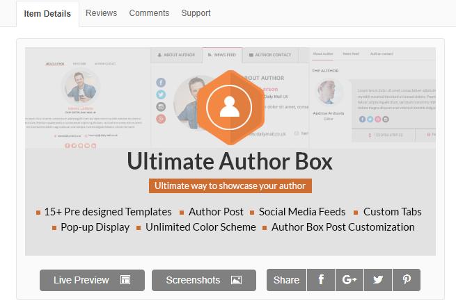 utimate author box