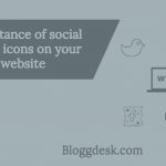 importance of social media icons on your website